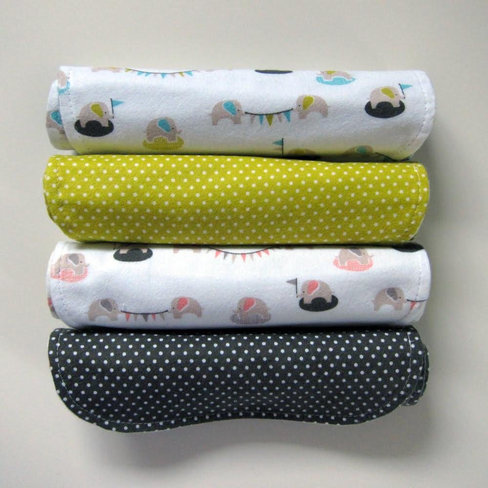 Wash Burp Cloths Before Use: Contoured Burp Cloths - Cloud9 Fabrics
