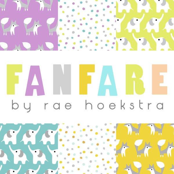 Fanfare Flannel 2014 by Rae Hoekstra for Cloud9 Fabrics