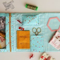 foldover sewing pouch