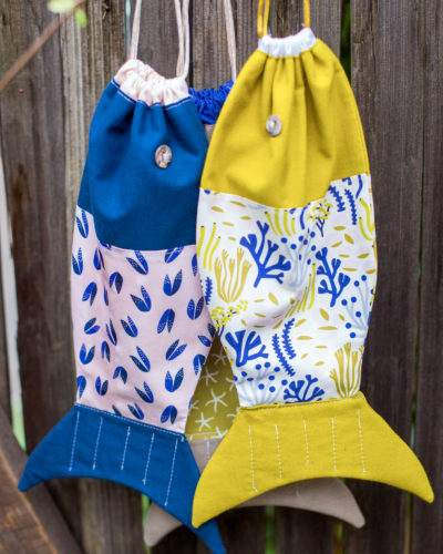 Make It Sew Drawstring Fish Bag Cloud60 Fabrics Awesome Drawstring Bag Pattern